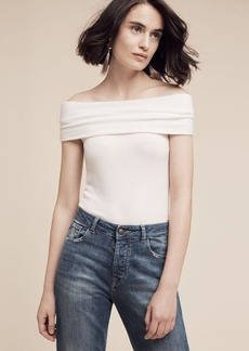Brushed Off-The-Shoulder Tee