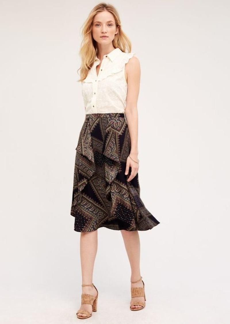Anthropologie Cachemire Printed Skirt