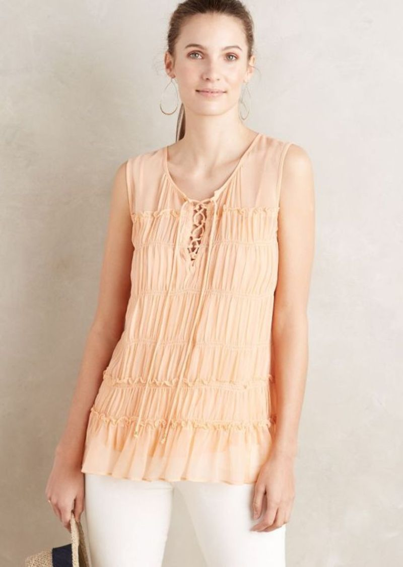 Anthropologie Calla Lace-Up Tank