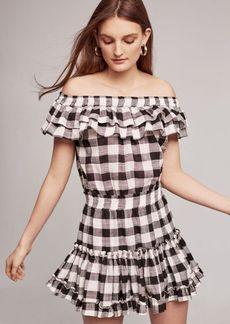 Anthropologie Carrington Off-The-Shoulder Mini Dress
