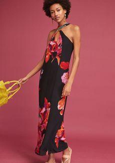Anthropologie Cayman Silk Maxi Dress