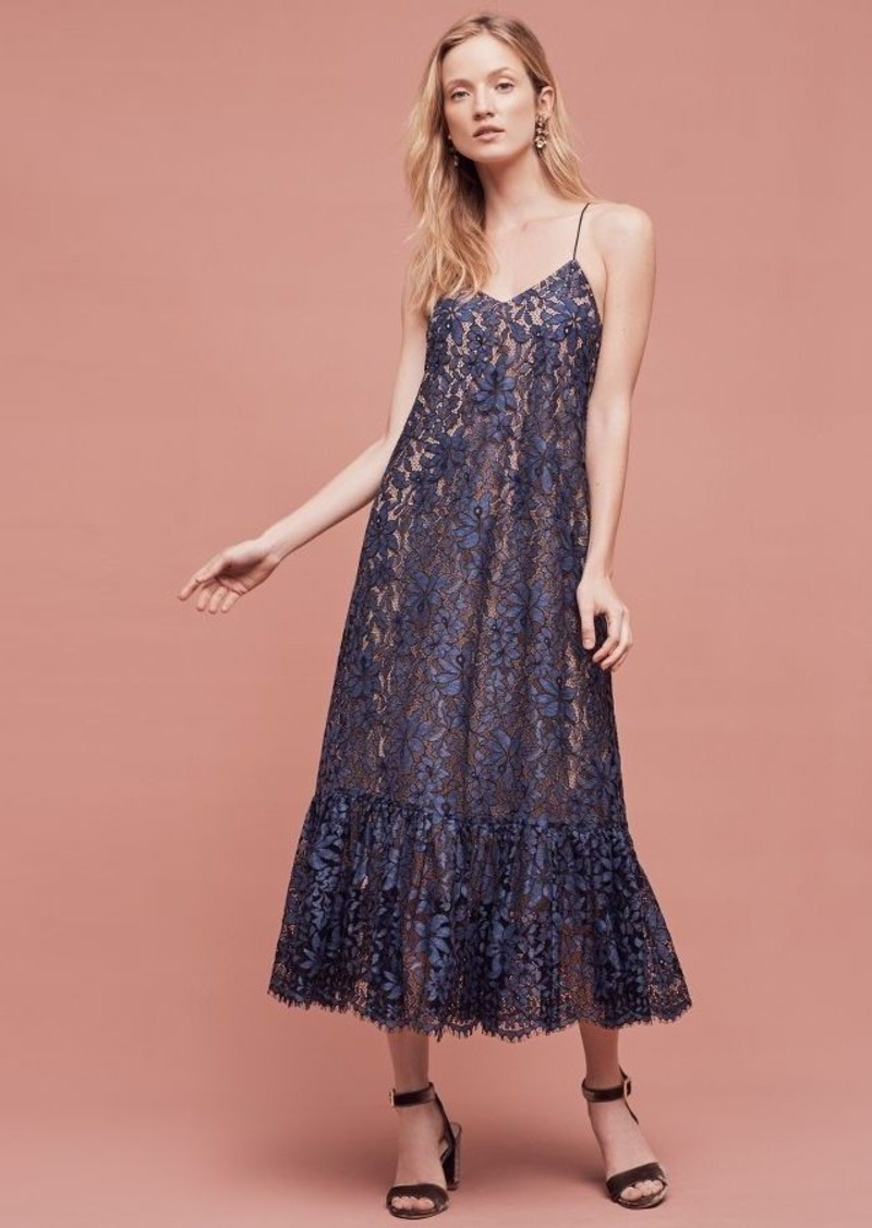 Anthropologie Celestial Lace Maxi Dress