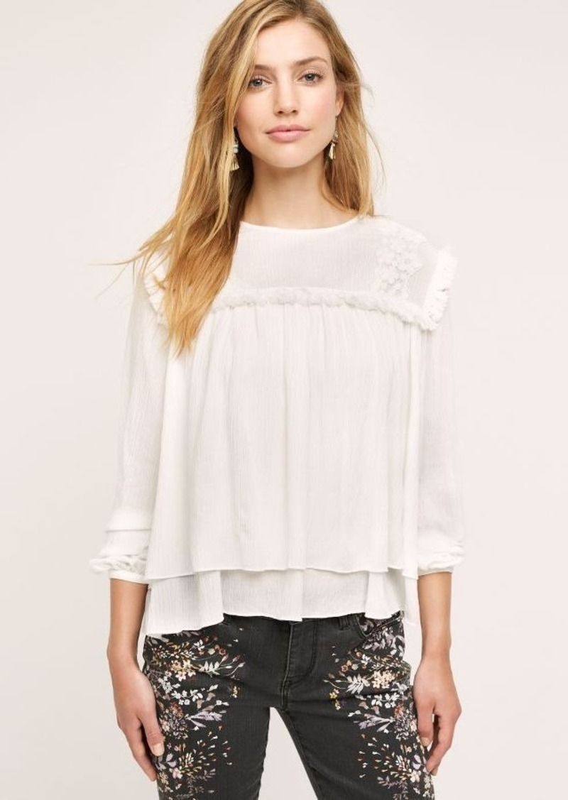 Anthropologie Celosia Tiered Blouse