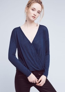 Anthropologie Chantelle Wrap-Front Top