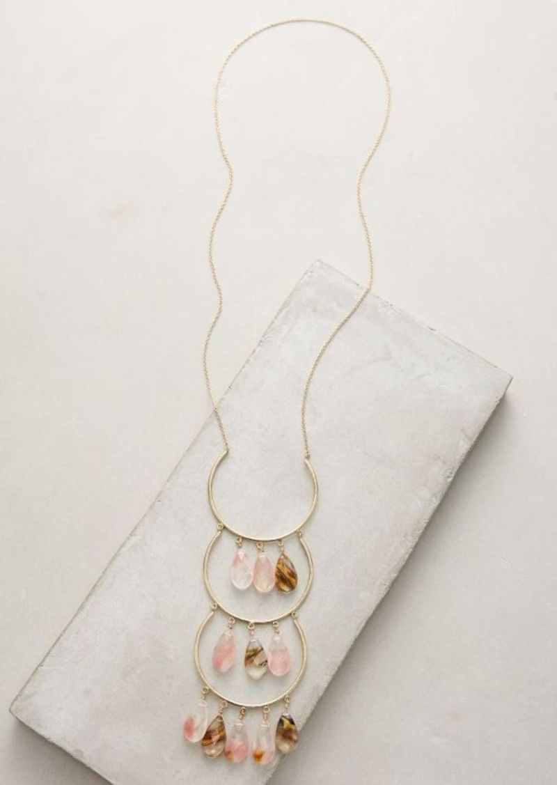 Anthropologie Cherry Drop Pendant Necklace