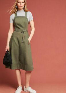 Anthropologie Chino Apron Midi Dress