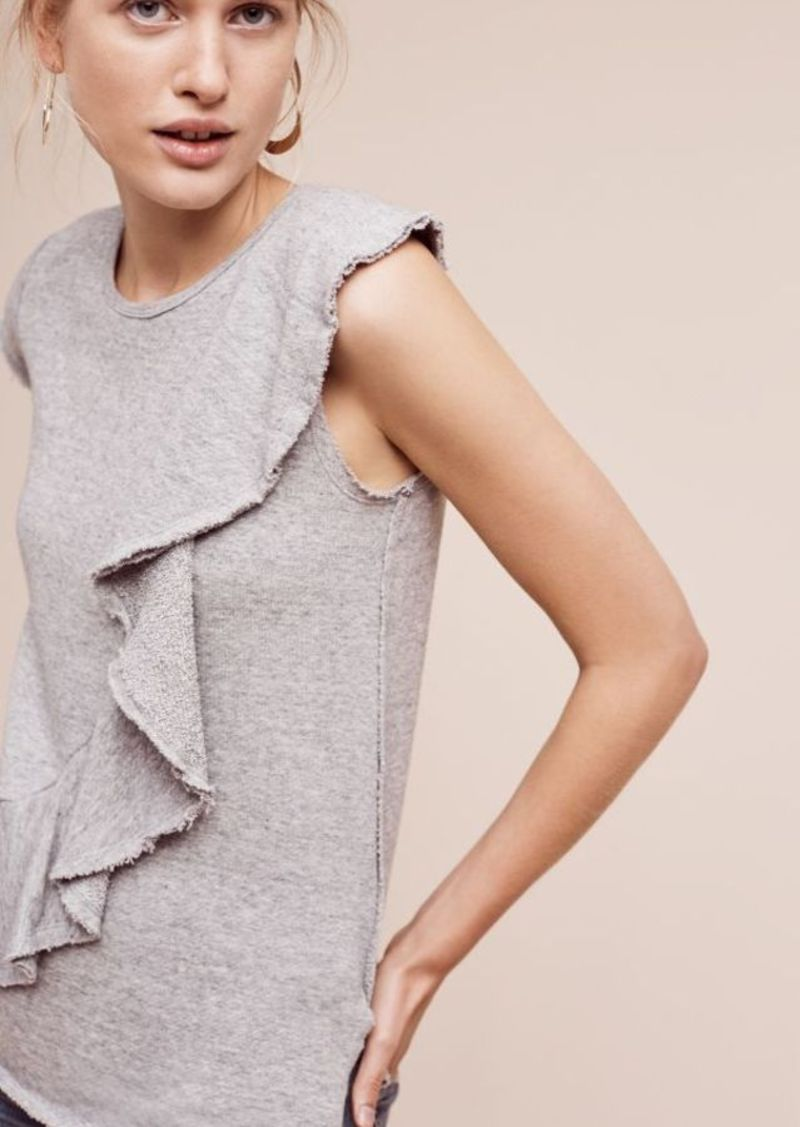 Anthropologie Choral Ruffle Top