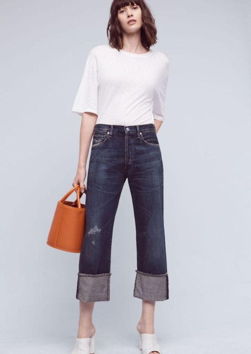 Anthropologie Citizens of Humanity Parker Ultra High-Rise Cuff Jeans