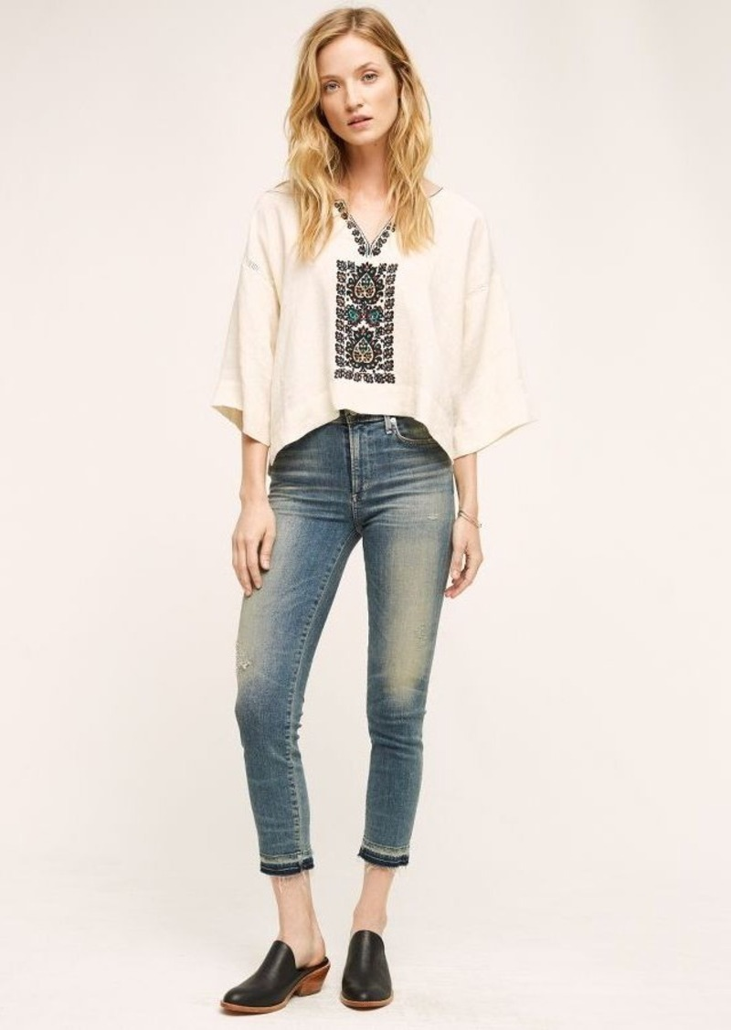 Anthropologie Citizens of Humanity Rocket High-Rise Crop Jeans