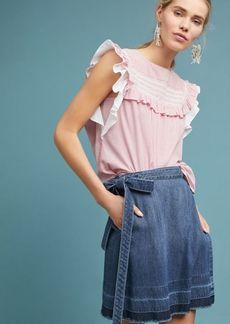 Anthropologie Cloth & Stone Denim Wrap Skirt