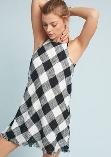 Cloth & Stone Frayed Gingham Dress