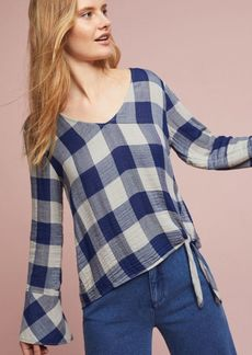 Cloth & Stone Knotted High-Low Shirt