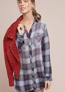 Cloth & Stone Raw-Edge Shirtdress
