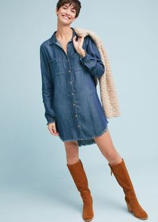 Cloth & Stone Raw-Edge Shirtdress