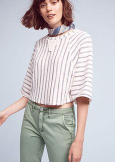 Coastal Stripes Terry Pullover
