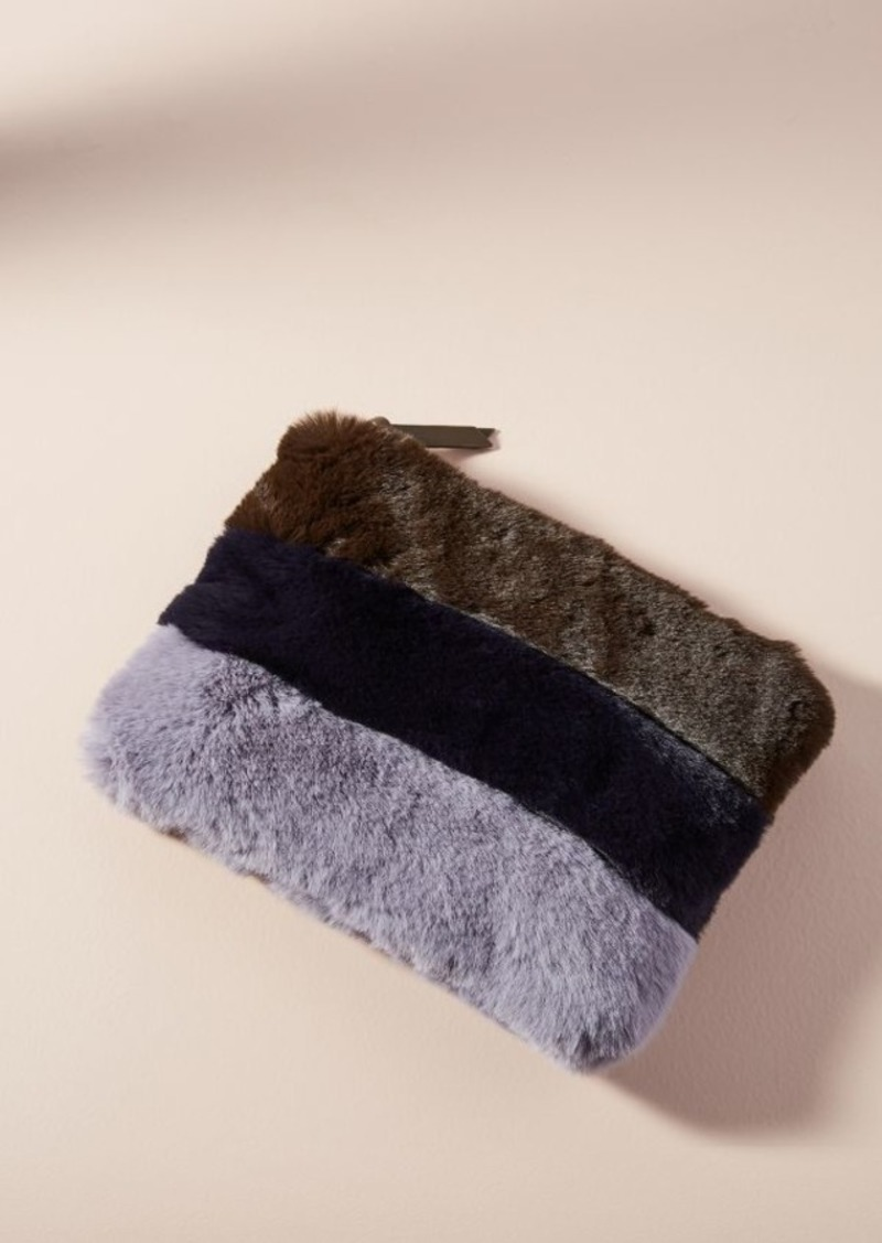 Anthropologie Colorblocked Faux Fur Bag  0fce578501697