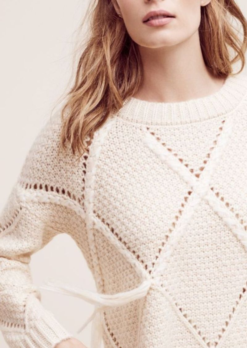 Anthropologie Corazon Fringed Pullover
