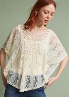 Crochet & Lace Poncho Pullover