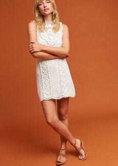Anthropologie Crochet Mini Dress