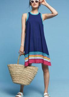 Anthropologie Crochet Trim Swing Dress