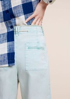 Anthropologie Cropped Chino Wide-Legs
