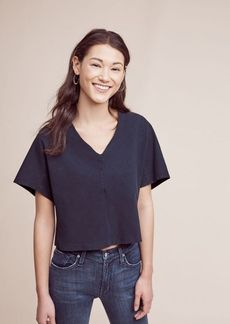 Anthropologie Cropped Envelope Top