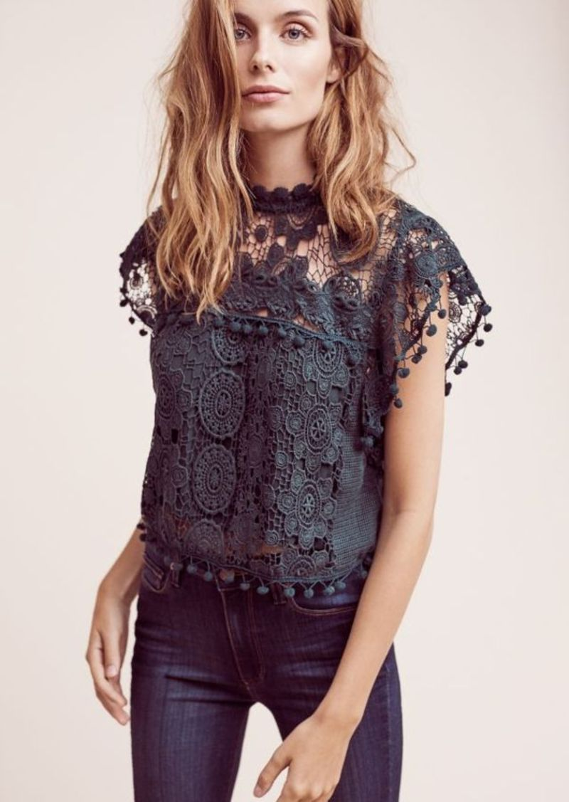 Anthropologie Cropped Guerie Shell
