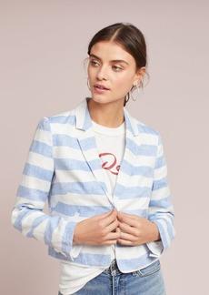 Cropped Linen Blazer