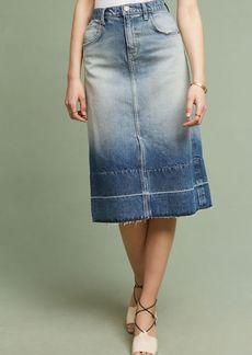 Anthropologie Current/Elliott The Slit Midi Denim Skirt