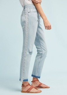 Anthropologie Current/Elliott The Slouchy Skinny Mid-Rise Straight Cropped Jeans