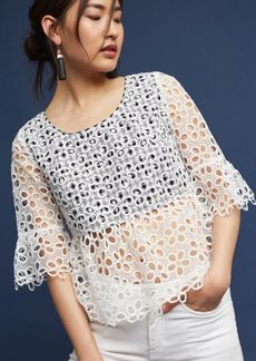 Anthropologie Daisies & Lace Blouse