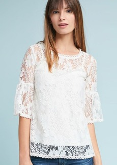 Anthropologie Daisy Lace Top