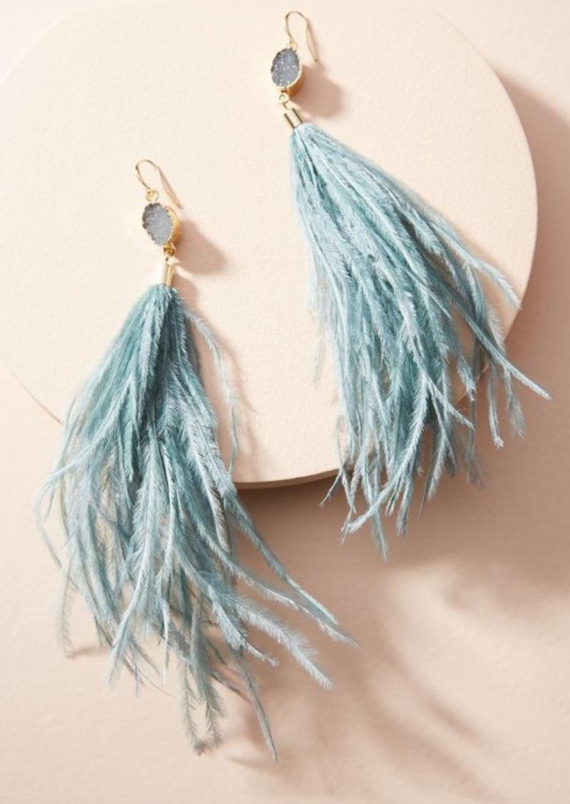 Anthropologie Deanne Feather Drop Earrings