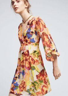 Anthropologie Deloria Printed Silk Dress