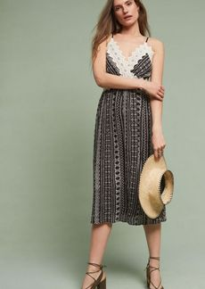 Anthropologie Delphine Lace Slip Dress