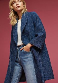 Diamond Quilted Wrap Coat