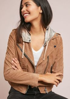 Doma Hooded Suede Jacket