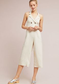 Double-Breasted Cropped Jumpsuit