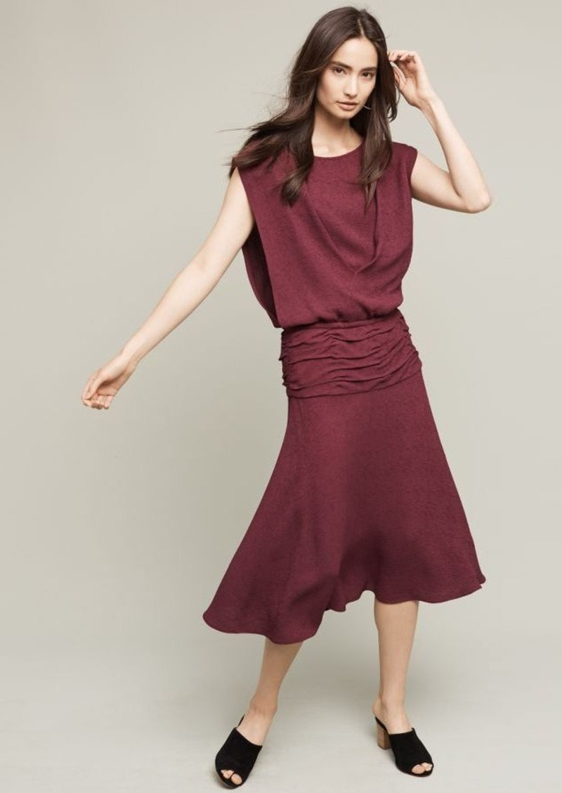 Anthropologie Draped Bateau Dress