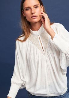 Anthropologie Edda High-Neck Blouse