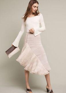 Anthropologie Elene Asymmetrical Sweater Skirt