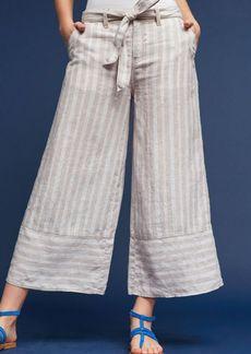 Anthropologie Eliana Linen Cropped Wide-Legs