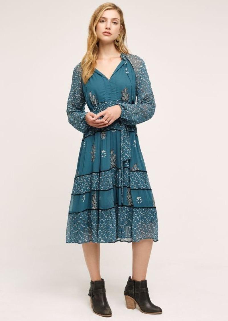 Anthropologie Eliza Tiered Peasant Dress