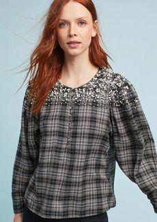 Embellished Flannel Shirt