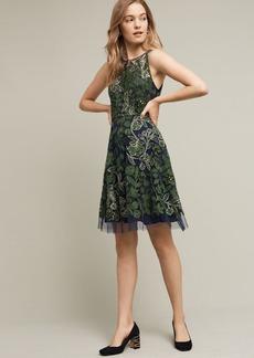 Anthropologie Embroidered Fern Dress