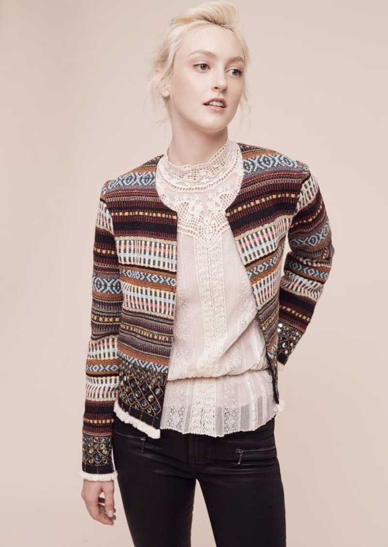 Anthropologie Embroidered Nell Jacket
