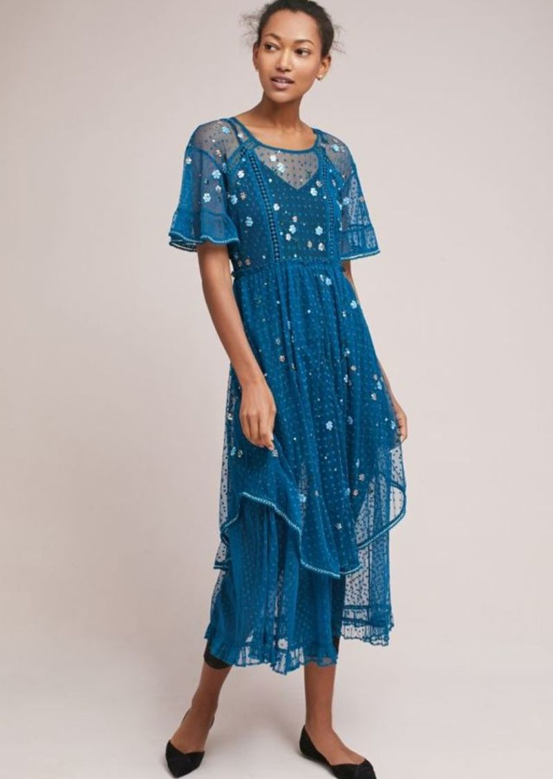 MOULINETTE SOEURS BELLFLOWER EMBROIDERED DRESS