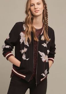 Anthropologie Embroidered Solstice Bomber
