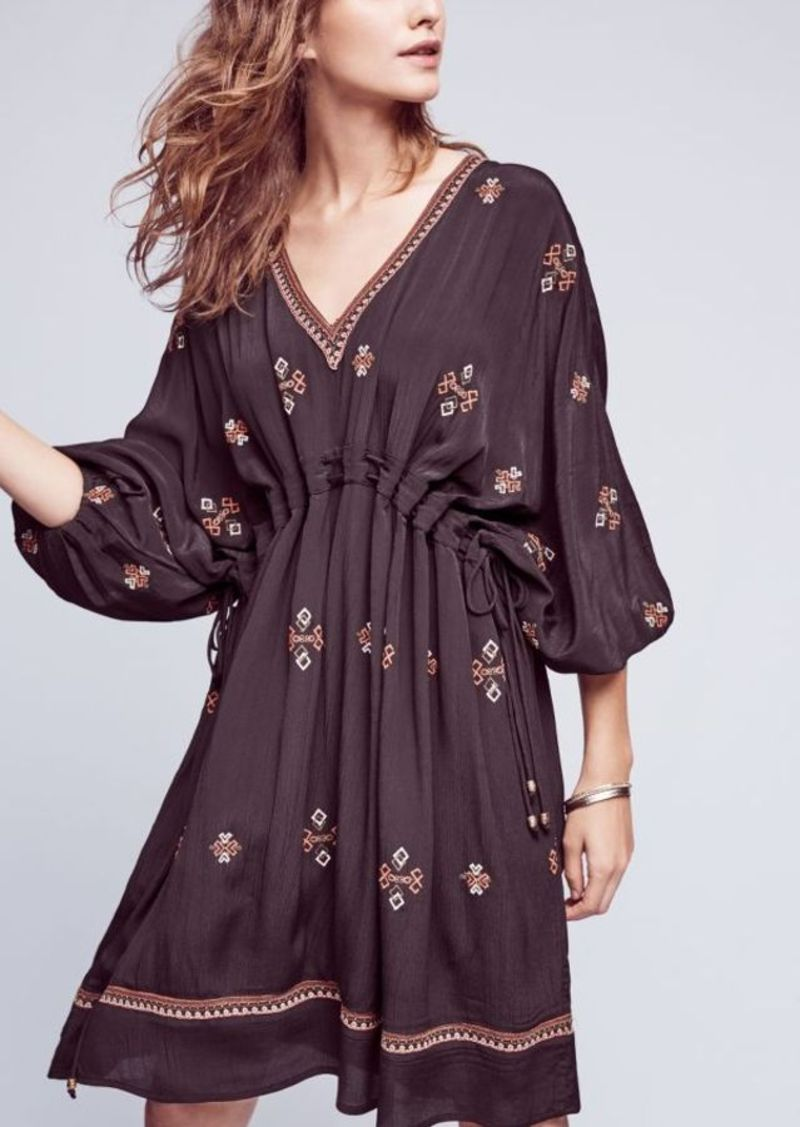 Anthropologie Embroidered Zola Dress