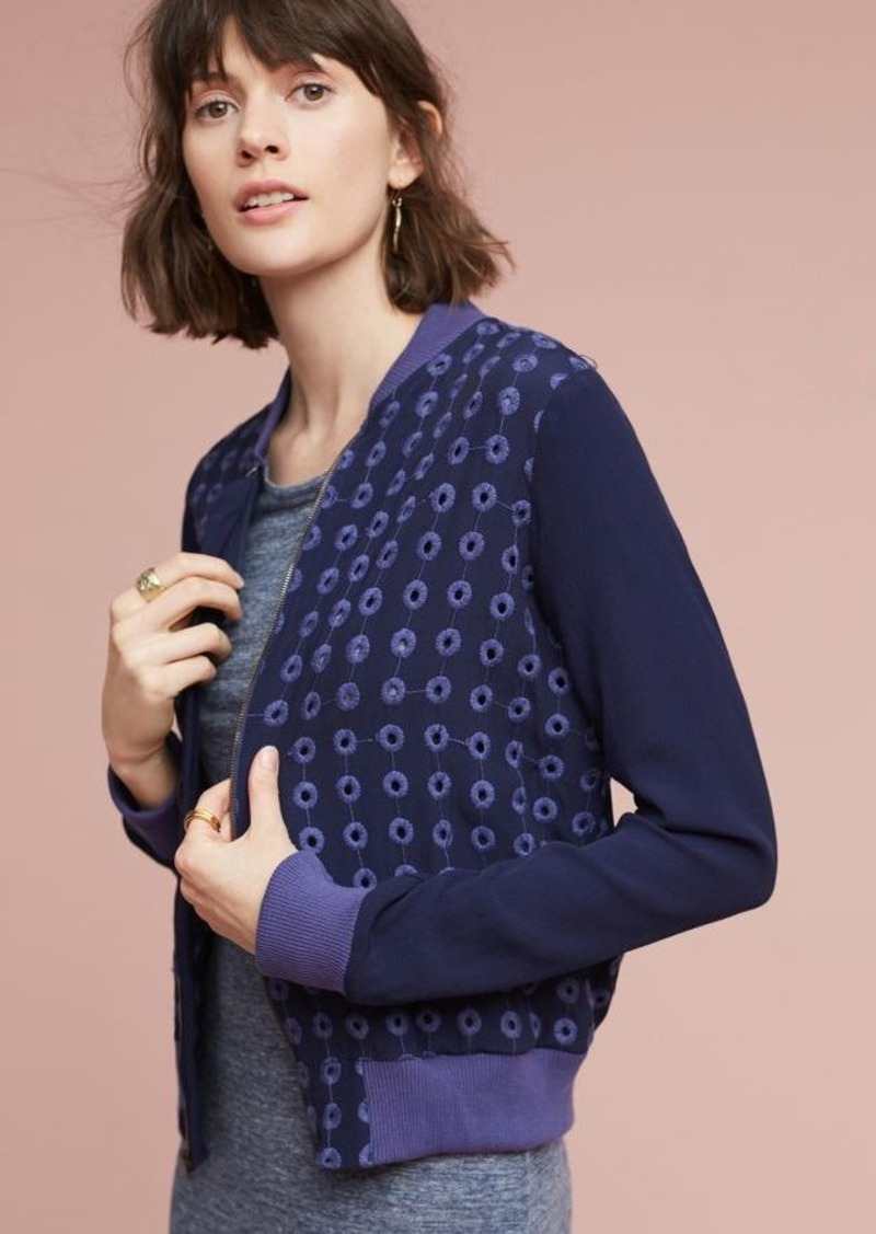 Anthropologie Eyelet Bomber